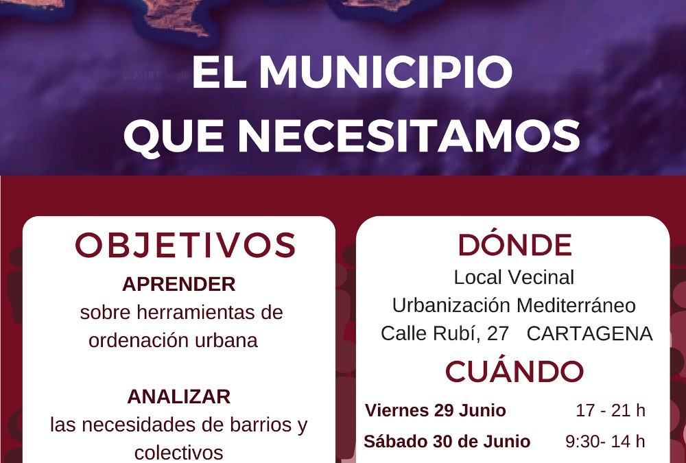 Pensando juntas la ciudad que necesitamos. PGOU de Cartagena.