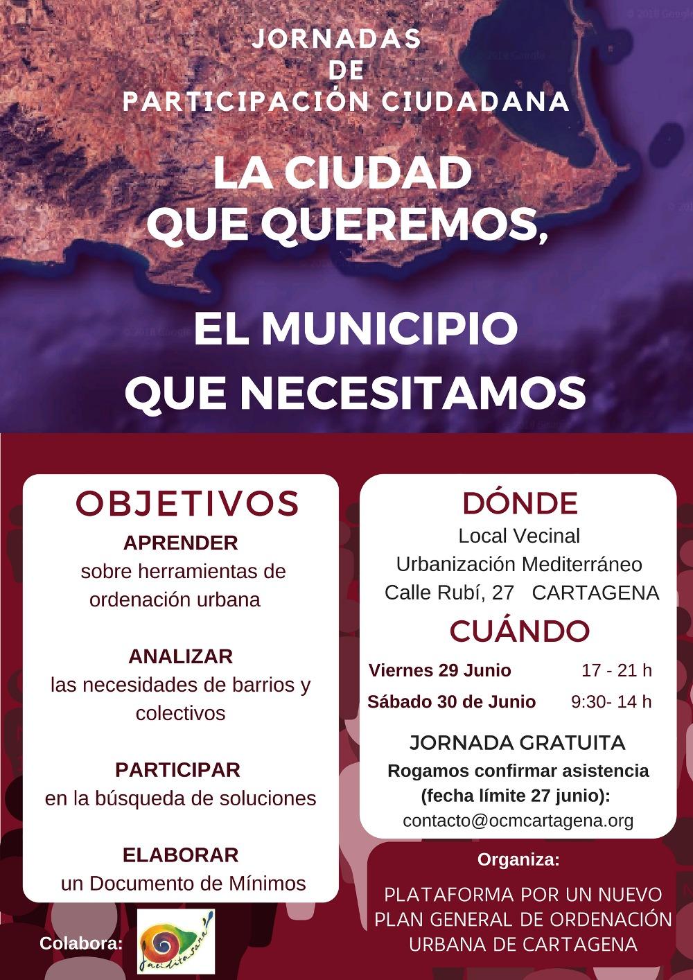 Jornadas PGOU Cartagena