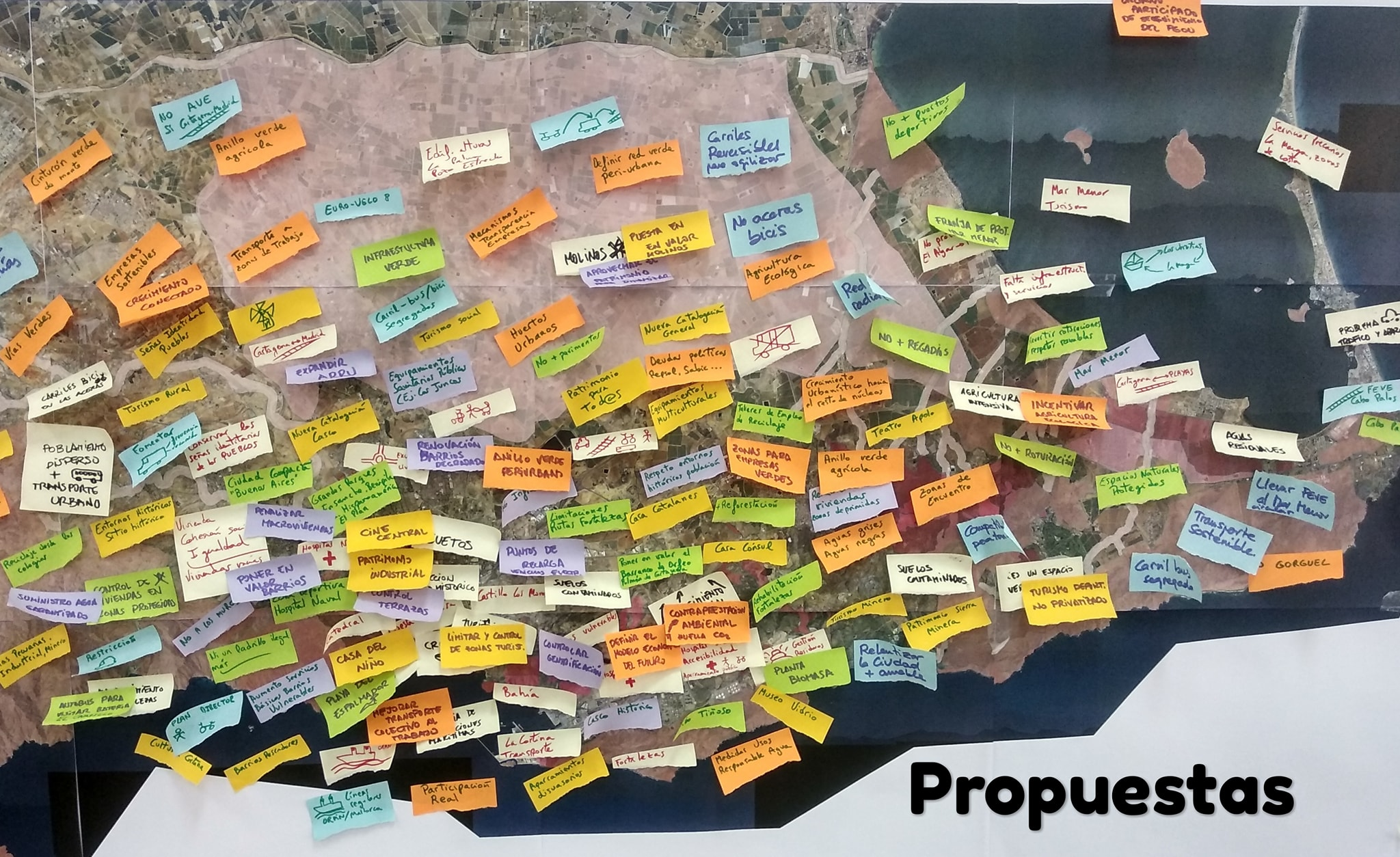 Mapa PGOU con propuestas